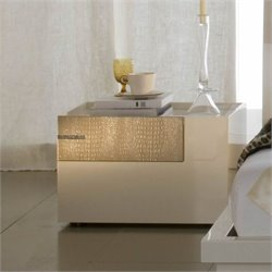 Rossetto Diamond Left Night Stand in Ivory