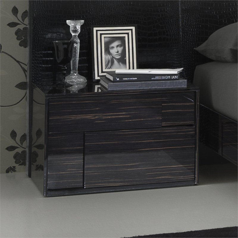 Rossetto Nightfly Left Night Stand in Ebony