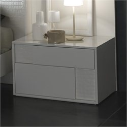 Rossetto Nightfly Right Night Stand in White