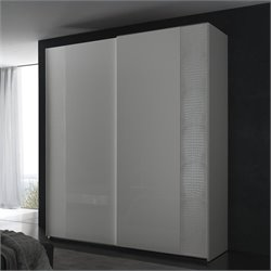 Rossetto Nightfly 2 Door Sliding Wardrobe in White