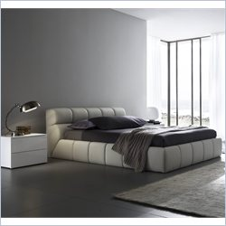 Rossetto Cloud Corda Beige Platform Bed 3 Piece Bedroom Set