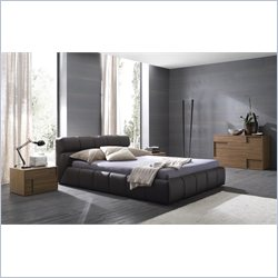 Rossetto Cloud Brown Platform Bed 4 Piece Bedroom Set