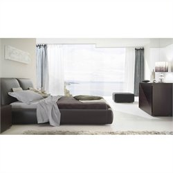 Rossetto Pavo Brown Platform Bed 4 Piece Bedroom Set