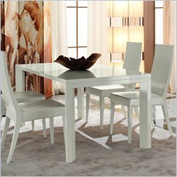 Rossetto Nightfly 5 Piece Rectangular Dining Table Set in White