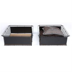 Fashion Bed Atlas Metal Slide-Out Drawer for Bed in Black (Set of 2)