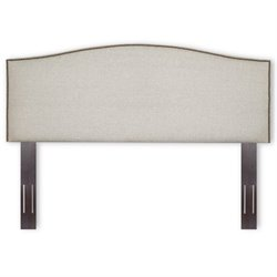 Fashion Bed Carlisle Full Queen Upholstered Headboard in Grande Pearl