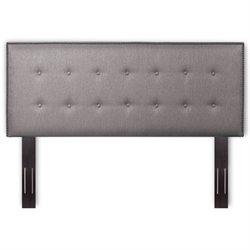 Fashion Bed Easley Full Queen Upholstered Headboard in Dove Gray