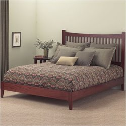 Fashion Bed Jakarta Modern Platform Bed in Mahogany Finish
