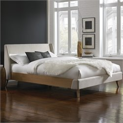Fashion Bed Palmer Upholstered Queen Platform Bed in Flax
