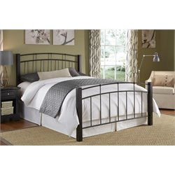 Fashion Bed Scottsdale Queen Metal Spindle Bed in Black Speckle