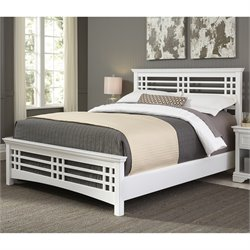 Fashion Bed Avery Queen Panel Bed in Cottage White