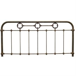 Fashion Bed Madera Full Metal Spindle Headboard in Rustic Green