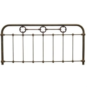 Fashion Bed Madera Metal Panel Headboard in Rustic Green