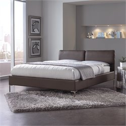 Fashion Bed Aurora Upholstered Platform Bed in Greige Brown