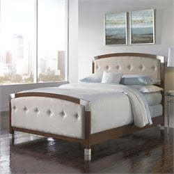 Fashion Bed Genesis Upholstered Bed in Dark Walnut