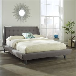 Fashion Bed Prelude Upholstered Queen Platform Bed in Ash
