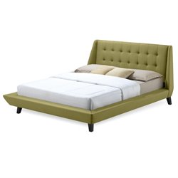 Fashion Bed Prelude Upholstered Queen Platform Bed in Willow