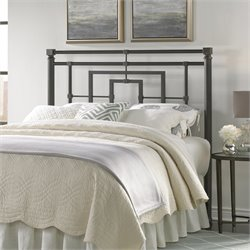 Fashion Bed Sheridan King Metal Headboard in Blackened Bronze