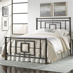 Fashion Bed Sheridan Queen Metal Bed in Blackened Bronze