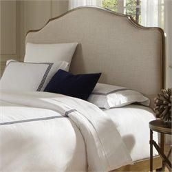 Fashion Bed Calvados Upholstered Queen Metal Headboard in Natural Oak