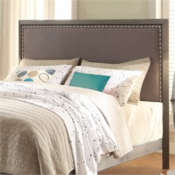 Fashion Bed Normandy Upholstered King Metal Headboard