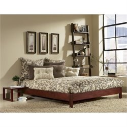 Fashion Bed Murray Modern Platform Bed in Mahogany - King