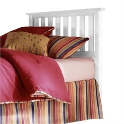 Fashion Bed Belmont Slat Headboard in White - Twin