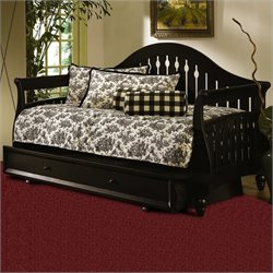 Fashion Bed Fraser Wood Daybed in Distressed Black