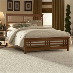Fashion Bed Avery Panel Bed in Oak