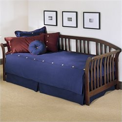 Fashion Bed Salem Wood Daybed in Mahogany Finish with Pop-Up Trundle