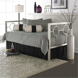 Fashion Bed Astoria Metal Daybed in Champagne Finish with Pop-Up Trundle