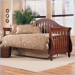 Fashion Bed Fraser Wood Daybed in Walnut  Finish with Pop-Up Trundle