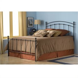 Fashion Bed Sanford Metal Poster Bed with Frame in Black Matte Finish - Twin