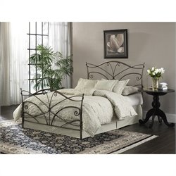 Fashion Bed Papillon Brushed Bronze Bed in Brushed Bronze - Queen