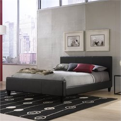 Fashion Bed Euro Platform Bed in Black - Full