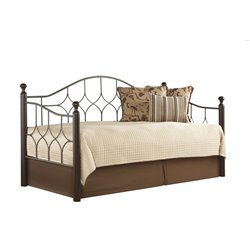 Fashion Bed Bianca Daybed in Pewter and Espresso - Without Pop-Up Trundle