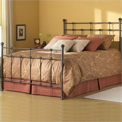 Fashion Bed Dexter Metal Poster Bed in Hammered Brown Finish