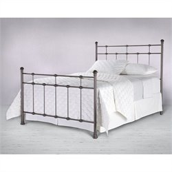 Fashion Bed Dexter Metal Poster Bed in Hammered Brown Finish - Twin