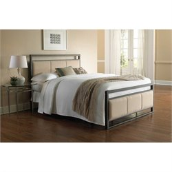 Fashion Bed Danville Metal Upholstered Bed in Coffee - Queen