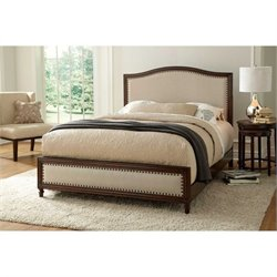 Fashion Bed Grandover Wood Upholstered Bed in Espresso