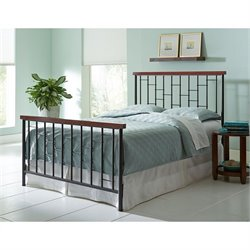 Fashion Bed Interlude Metal Spindle Bed in Cherry
