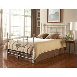 Fashion Bed Lafayette Metal Poster Bed in White