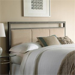 Fashion Bed Danville Metal Upholstered Headboard in Coffee