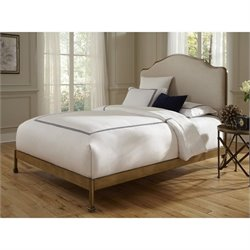 Fashion Bed Calvados Metal Bed in Sand and Natural Oak