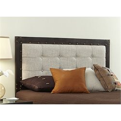Fashion Bed Gotham Headboard in Latte and Brushed Copper - King