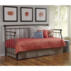 Fashion Bed Morraine Daybed with Link Spring in Blackened Taupe