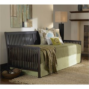 Daybed with Link Spring and Pop Up in Espresso
