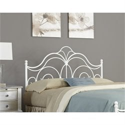 Fashion Bed Rhapsody Headboard in Glossy White - King