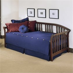 Fashion Bed Salem Daybed with Link Spring and Pop Up in Mahogany