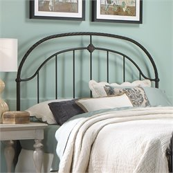 Fashion Bed Cascade Metal Headboard in Ancient Gold - King